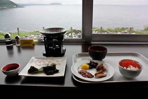 利尻島 雲丹御殿 朝食